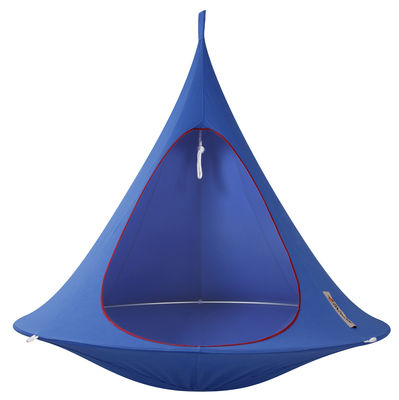 Outdoor - Sdraio, lettini e amache - Poltrona sospesa - sospesa - Doppia di Cacoon - Blu cielo - Alluminio anodizzato, Tela