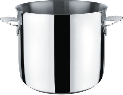 Kitchenware - Pots & Pans - Dressed Pot - Ø 24 cm by Alessi - Mirror polished steel - Stainless steel 18/10