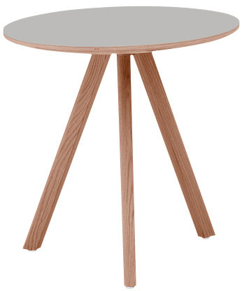 Furniture - Dining Tables - Copenhague n°20 Round table by Hay - Grey - Linoleum, Tinted oak
