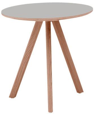 Möbel - Tische - Copenhague n°20 Runder Tisch / Modell 20 - Ø 90 - Hay - Ø 90 / grau - getönte Eiche, Linoleum