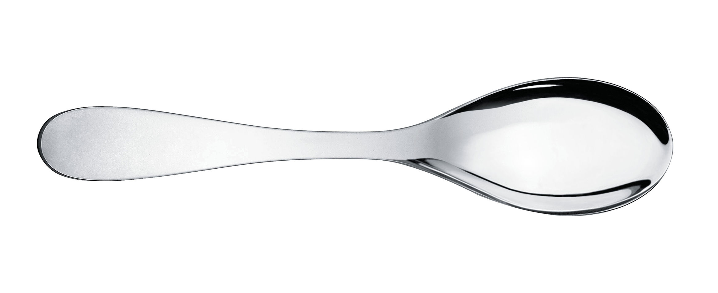 Tableware - Serving Cutlery - Eat.it Service spoon by Alessi - Polished metal - Stainless steel 18/10