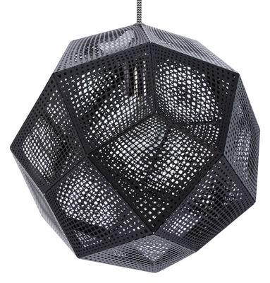Illuminazione - Lampadari - Sospensione Etch Shade di Tom Dixon - Nero - Acciaio inossidabile laccato