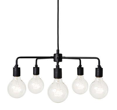 Illuminazione - Lampadari - Sospensione Leonard Chandelier - / Ø 46 cm di Menu - Nero - Acciaio, Porcellana