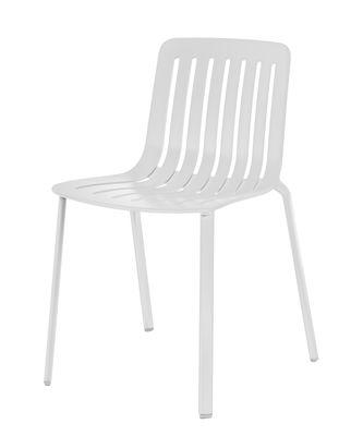 Möbel - Stühle  - Plato Stapelbarer Stuhl / Aluminium - Magis - Weiß - gefirnistes Gussaluminium, Lackiertes eingespritztes Aluminium