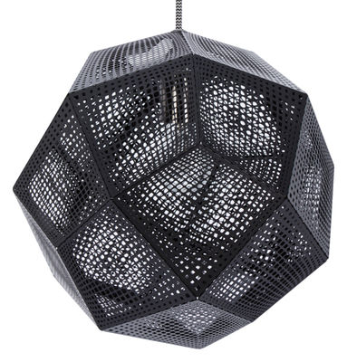 Suspension Etch Shade / Ø 32 cm - Tom Dixon noir en métal