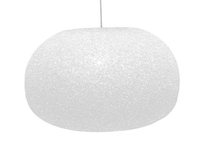 Luminaire - Suspensions - Suspension Sumo  Small / H 22 x Ø 34 cm - Lumen Center Italia - Small - Blanc - Polycarbonate auto-extinguible