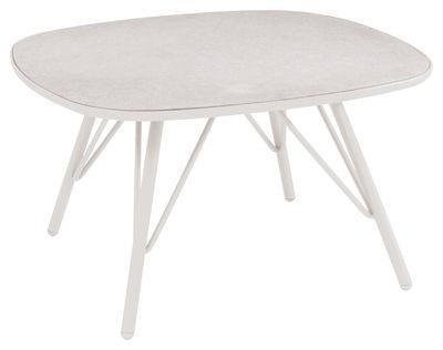 Table basse Lyze / 70 x 70 cm - Fibre-ciment - Emu blanc mat en métal