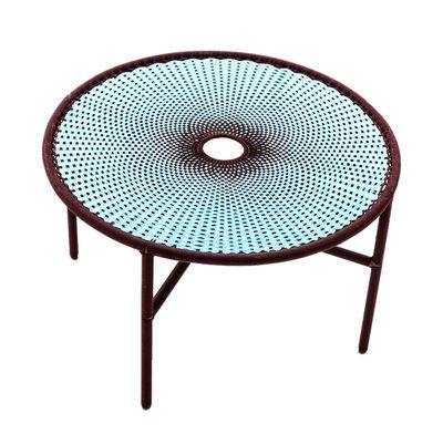 Table basse M'Afrique - Banjooli / Ø 50 x H 46 cm - Moroso bleu en matière plastique