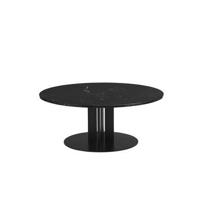 Table basse Scala / Ø 110 x H 40 cm - Marbre noir - Normann Copenhagen noir en pierre