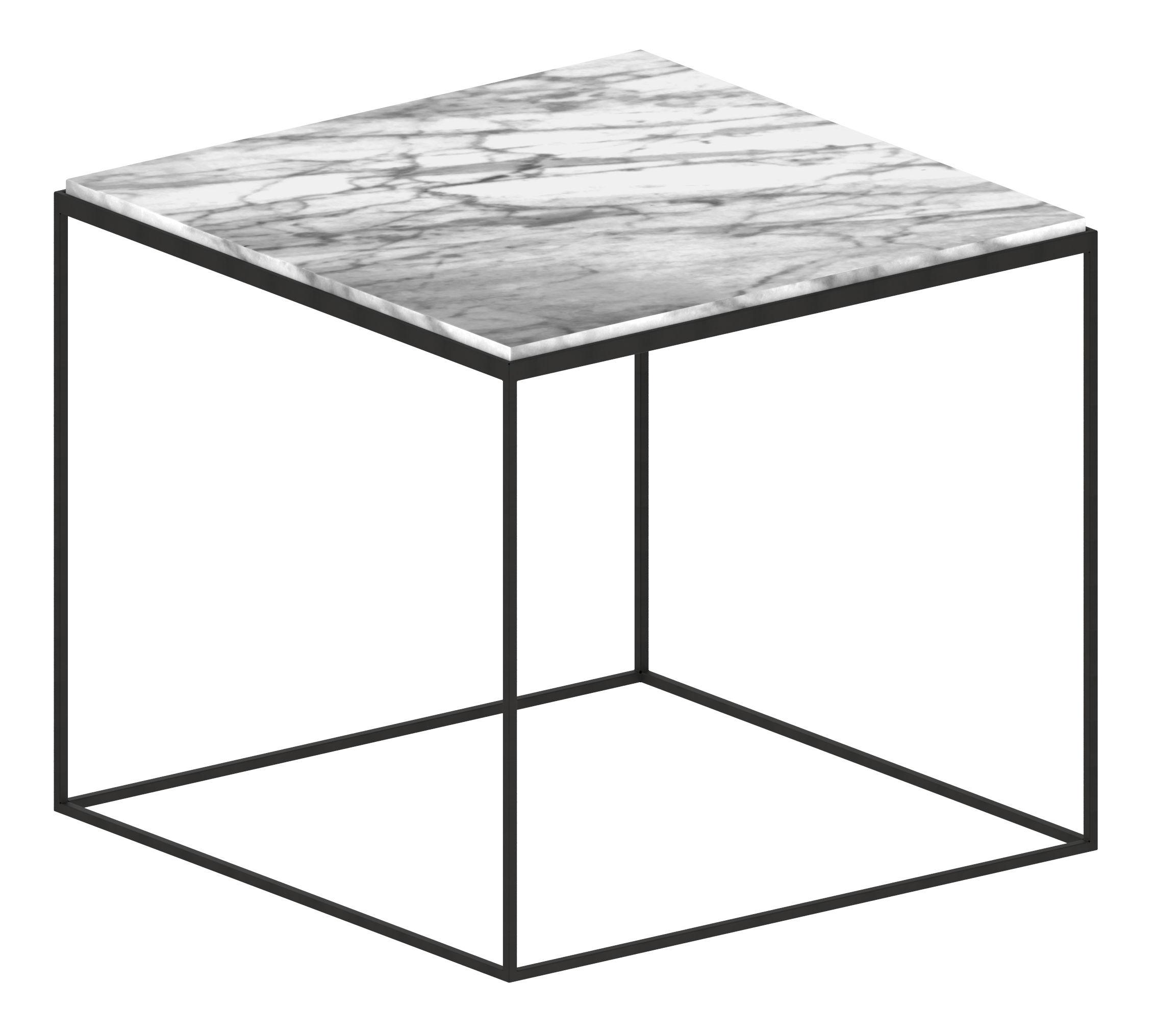 Mobilier - Tables basses - Table basse Slim Marbre / 54 x 54 x H 48 cm - Zeus - Small / Marbre blanc - Acier peint époxy, Marbre de Carrare