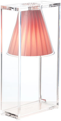 Lighting - Table Lamps - Light-Air Table lamp by Kartell - Pink - Fabric, Thermoplastic technopolymer