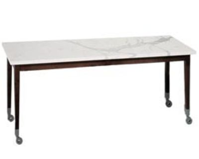 Furniture - Exceptional furniture - Neoz Table - Rectangular by Driade - Ebony/ marble - Mahogany, Marble