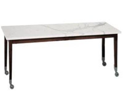 Table rectangulaire Neoz / 210 x 90 cm - Driade bois naturel en bois/pierre
