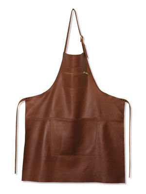 Tablier cuir / Poche zippée - Dutchdeluxes marron en cuir