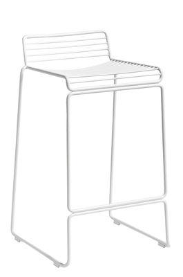 Mobilier - Tabourets de bar - Tabouret de bar Hee / H 65 cm - Hay - Blanc - Acier laqué