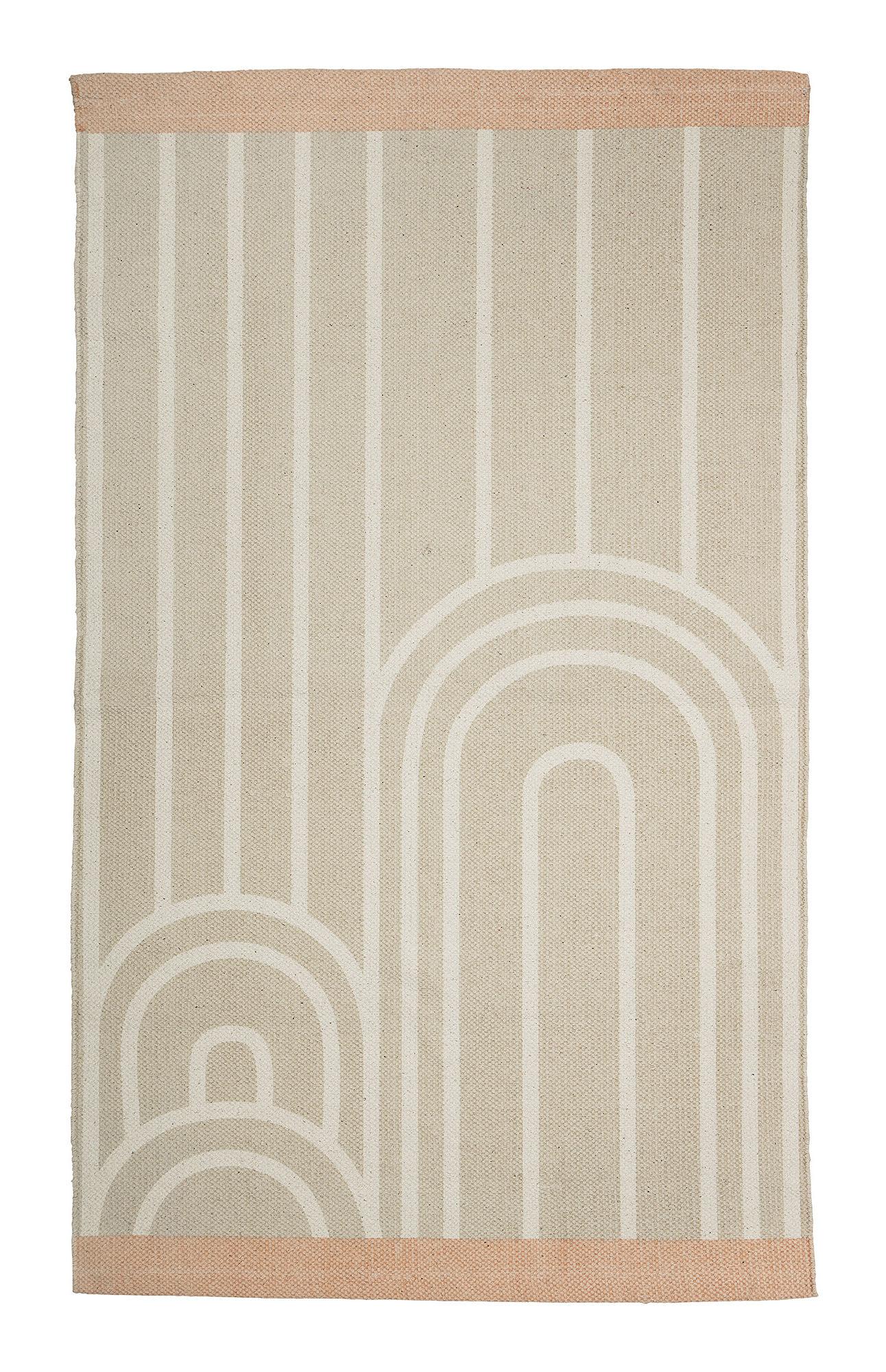 Tapis Bloomingville Beige Blanc Made In Design