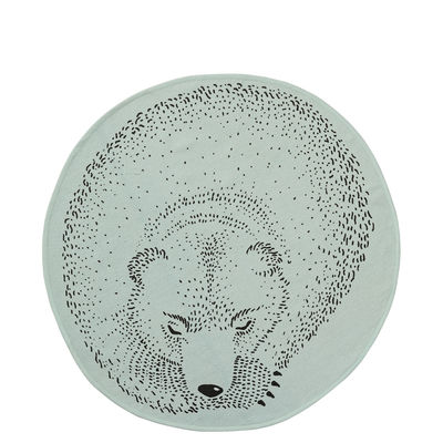 Image of Tappeto Ours / Coton - Ø 80 cm - Bloomingville - Verde - Tessuto -