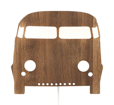 Decoration - Children's Home Accessories - Car Wall light with plug - Wall lamp by Ferm Living - Wood - Oak