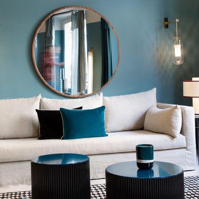 Bulle Large Wall mirror - / Ø 10 cm / Rattan by Maison Sarah Lavoine
