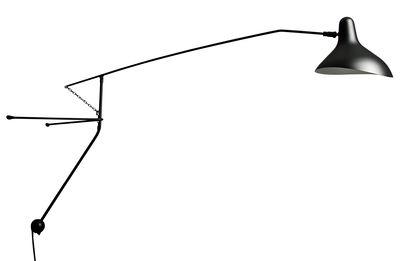 Leuchten - Wandleuchten - Mantis BS2 Wandleuchte / L 153 cm - Neuauflage des Originals von 1951 - DCW éditions - Schwarz - Aluminium, Stahl