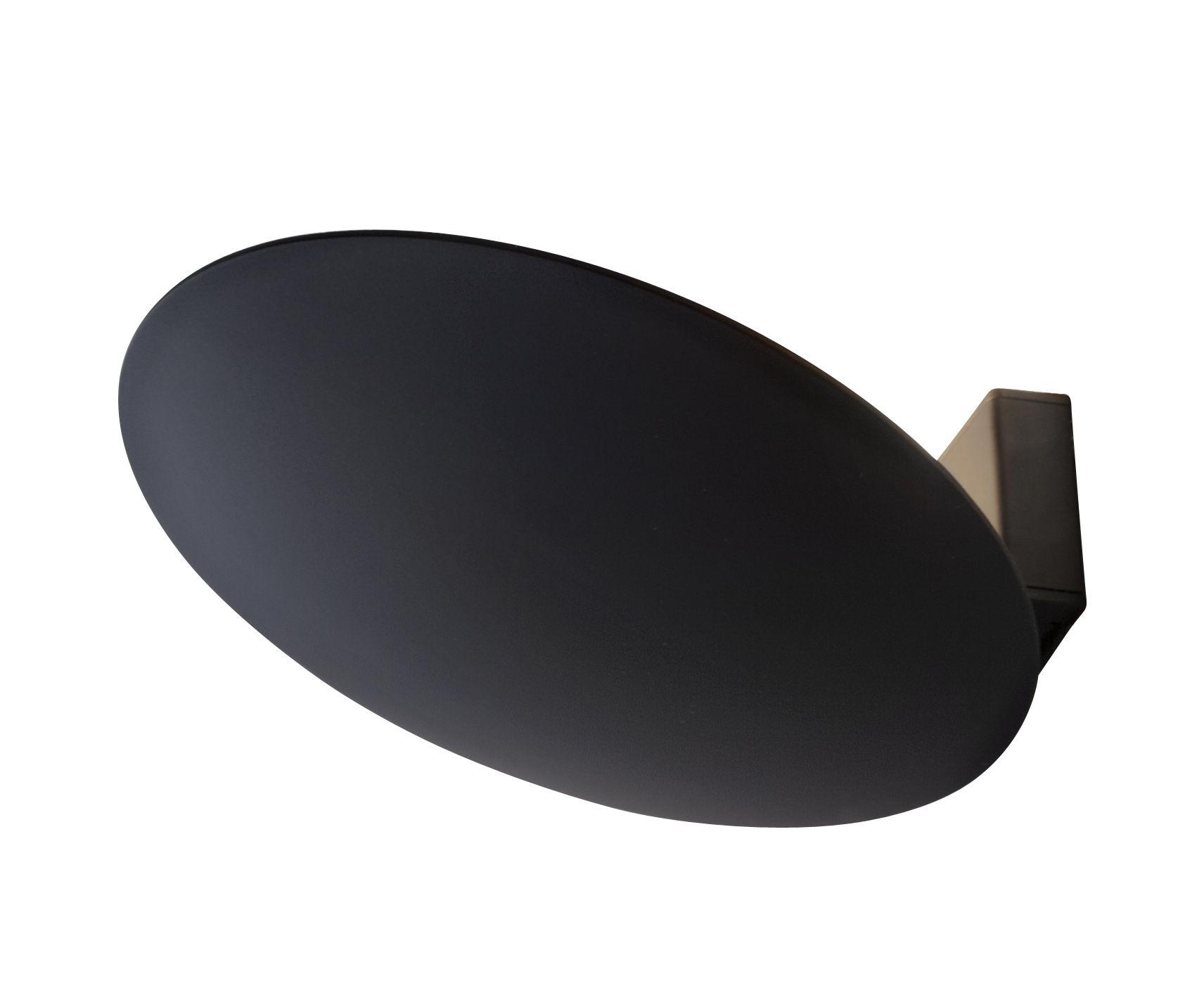 Luminaire - Appliques - Applique Lederam WF / LED - 1 disque fixe Ø 17 cm - Catellani & Smith - Noir - Aluminium peint