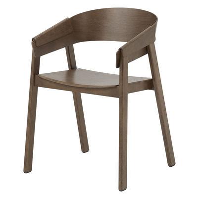 Furniture - Chairs - Cover Armchair - / Wood by Muuto - Dark wood - Tinted ashwood, Tinted beechwood