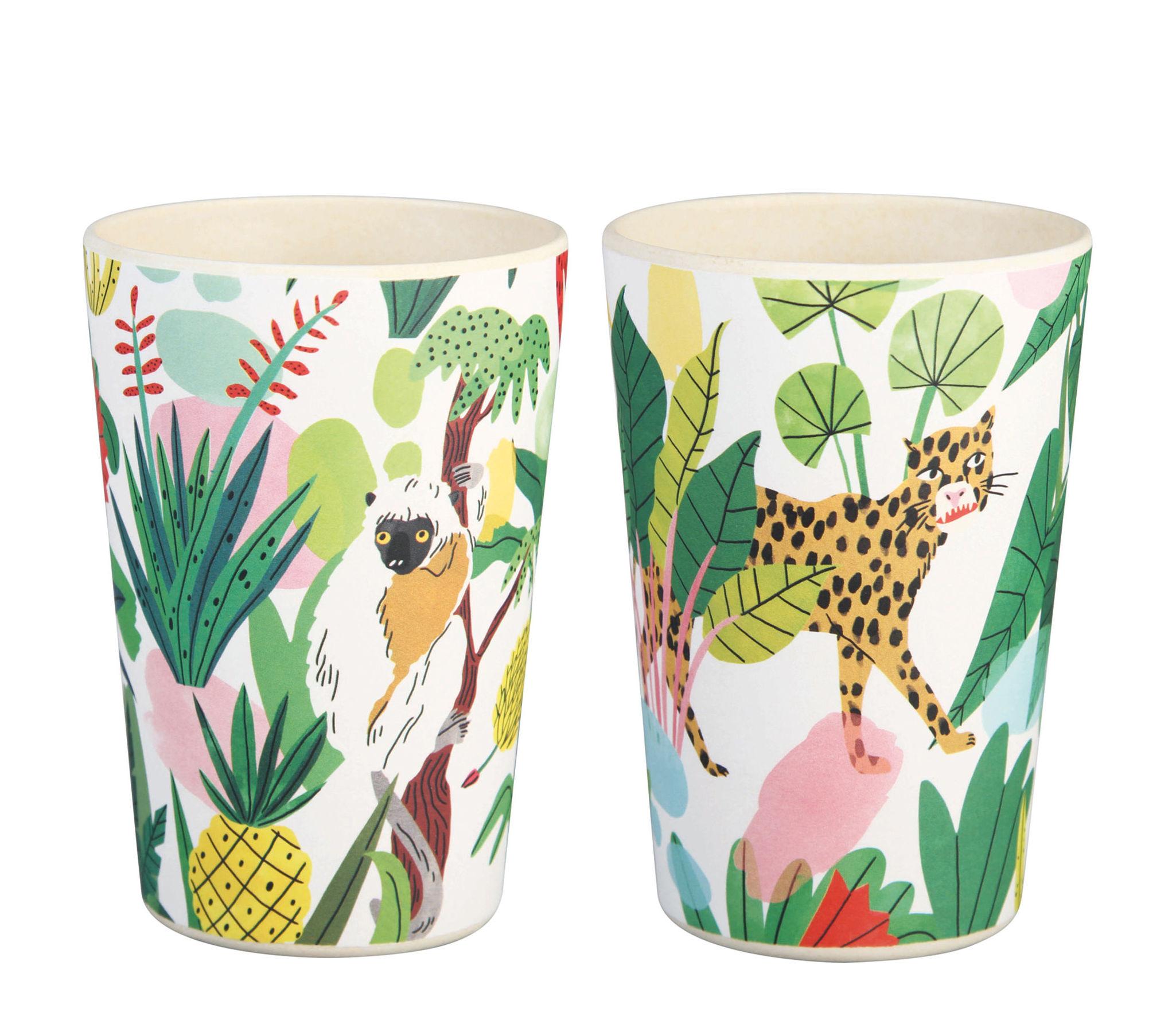 Tavola - Tazze e Boccali - Bicchiere/bicchierino Bodil - / Set da 2 - Bambù di & klevering - Giungla tropicale - Fibra di bambù