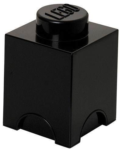 Déco - Pour les enfants - Boîte Lego® Brick / 1 plot - Empilable - ROOM COPENHAGEN - Noir - Polypropylène