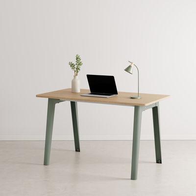 Bureau New Modern / 130 x 70 cm - Chêne éco-certifié - TIPTOE gris en métal/bois