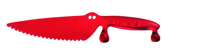 Kitchenware - Fun in the kitchen - Coco Cake knife by Koziol - Transparent red - Plastic material