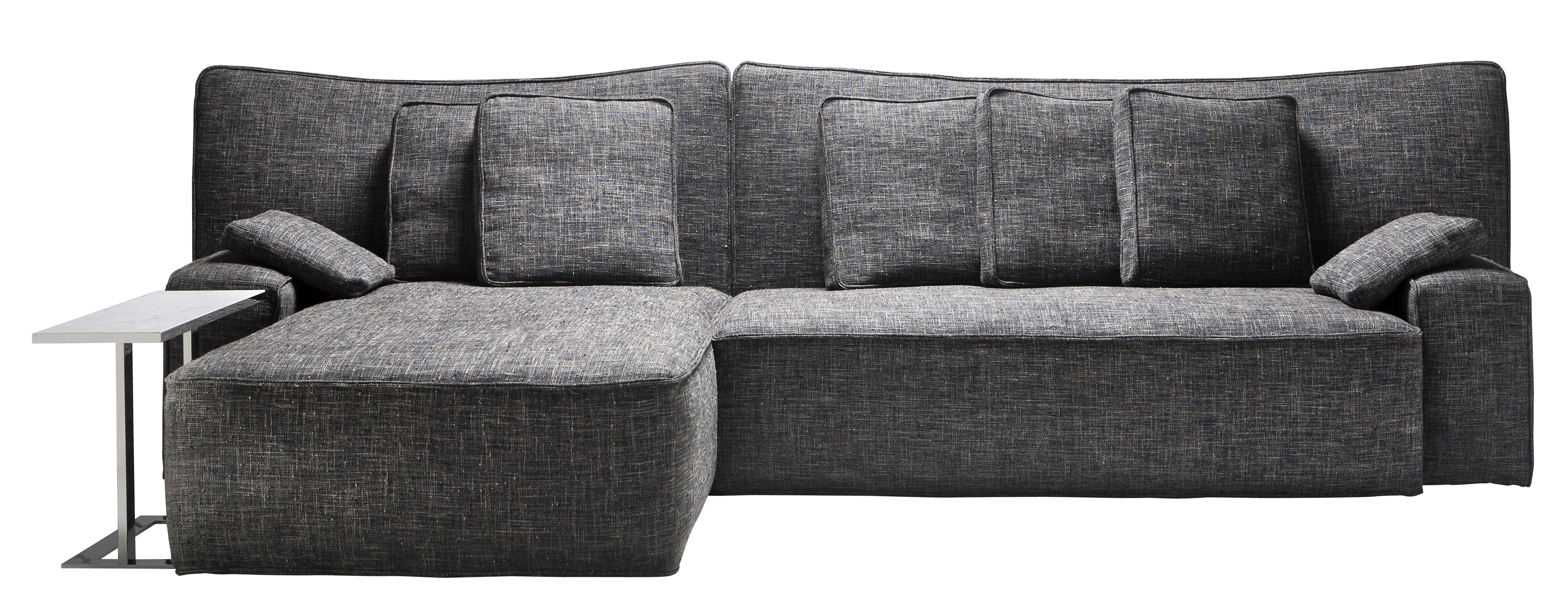 Mobilier - Canapés - Canapé d'angle Wow Sofa / L 339 x P 190 cm - Driade - Marron gris - Bois, Mousse de polyuréthane, Tissu