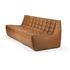 Canapé droit N701 / 3 places - L 210 cm / Cuir - Ethnicraft