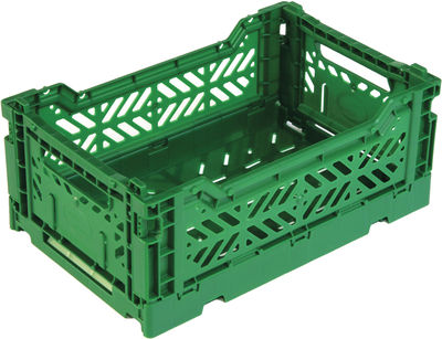 Casier de rangement Mini Box / Pliable - L 26,5 cm - Surplus Systems - Pop Corn vert bouteille en matière plastique