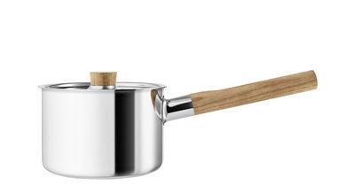 Cucina - Pentole, Padelle e Casseruole - Casseruola Nordic Kitchen - / 2 L - Con coperchio di Eva Solo - Inox / Rovere - Acciaio inossidabile, Rovere
