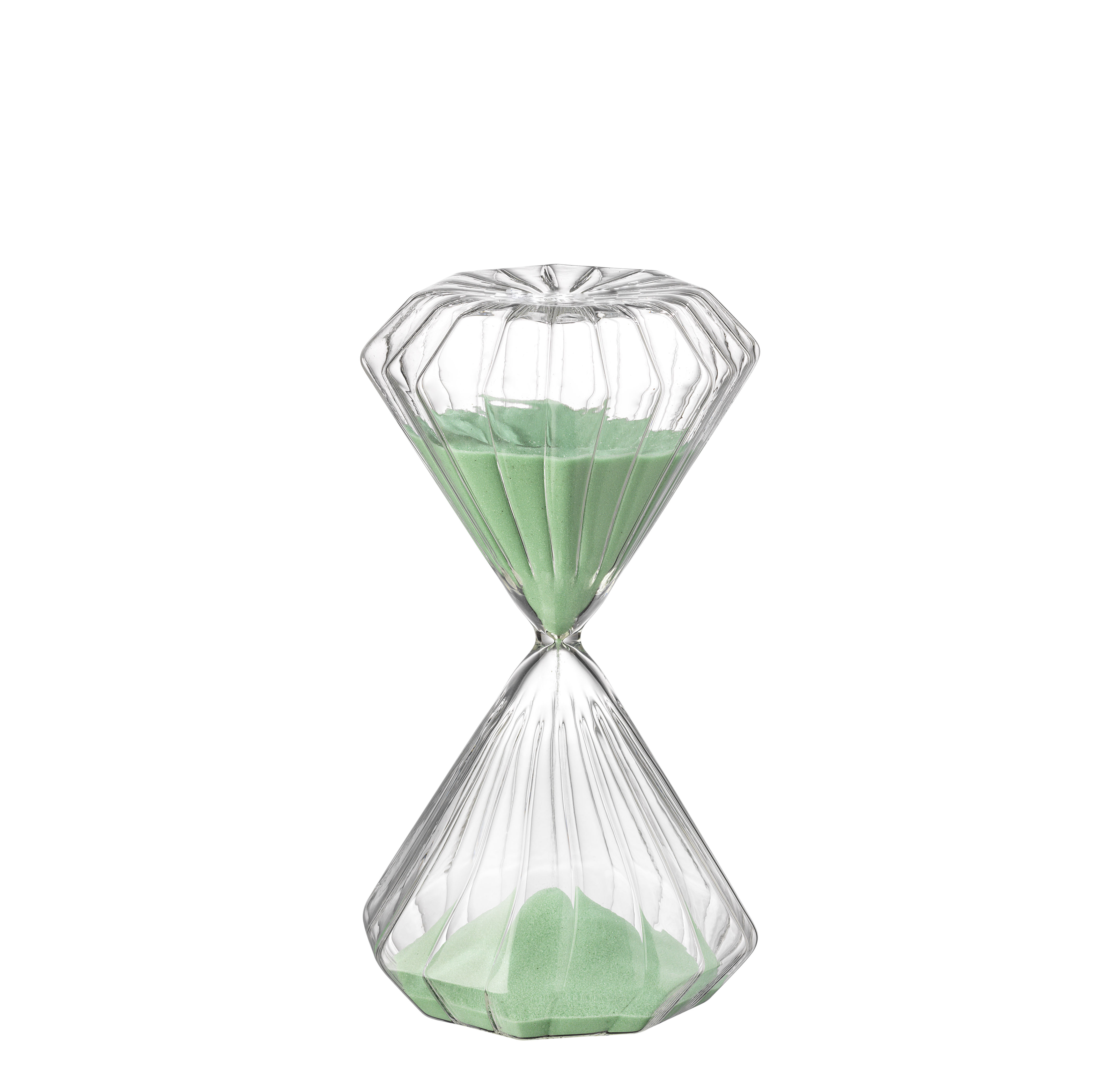 Cucina - Utensili da cucina - Clessidra Romantic - / 5 minuti - H 11 cm di Bitossi Home - Verde - sabbia, Vetro