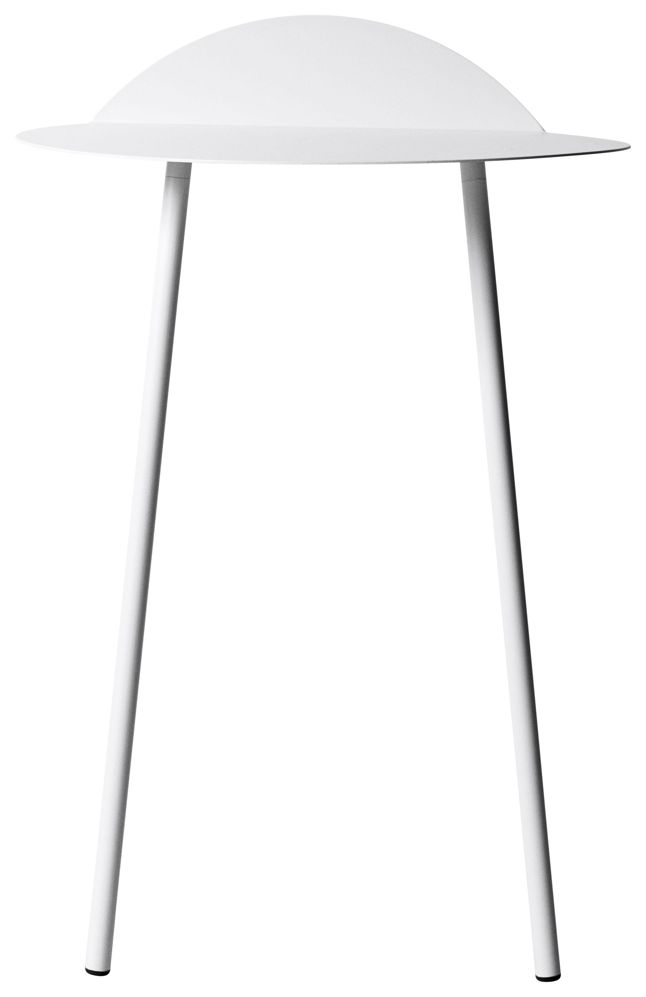Mobilier - Consoles - Console Yeh Wall / H 71 cm - Menu - Blanc - Acier laqué