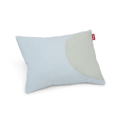 Coussin Pop Pillow / Coton - 50 x 37.5 cm - Fatboy bleu clair,gris clair en tissu