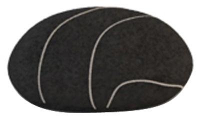 Image of Cuscino Pierre Livingstones - Versione in lana da interno di Smarin - Nero - Tessuto