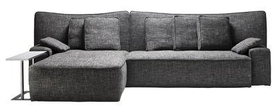Arredamento - Divani moderni - Divano angolare Wow Sofa / L 339 x P 190 cm - Driade - Blu - Legno, Schiuma di poliuretano, Tessuto