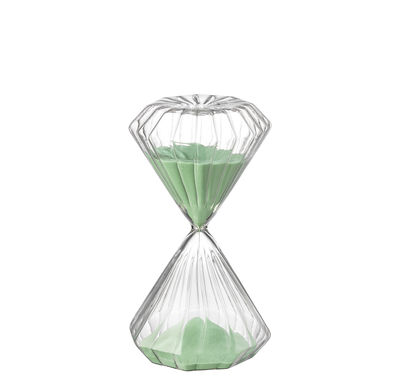 Kitchenware - Kitchen Equipment - Romantic Egg timer - / 5 minutes - H 11 cm by Bitossi Home - Vert - Glass, Sand