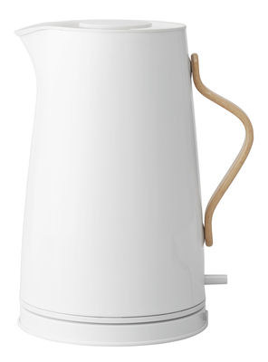 Kitchenware - Kettles & Teapots - Emma Electric kettle - 1,2 L by Stelton - White & Wood - Beechwood, Lacquered stainless steel