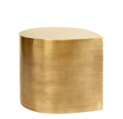 Furniture - Coffee Tables - Brass Teardrop End table - / solid brass by Jonathan Adler - Burnished brass - Solid brass