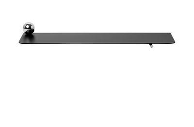 Etagère Flying Sphère / L 60 x H 6,3 cm - Ferm Living noir,chromé en métal