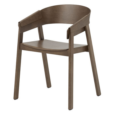 Mobilier - Chaises, fauteuils de salle à manger - Fauteuil Cover / Bois - Muuto - Bois foncé - Frêne teinté, Hêtre teinté