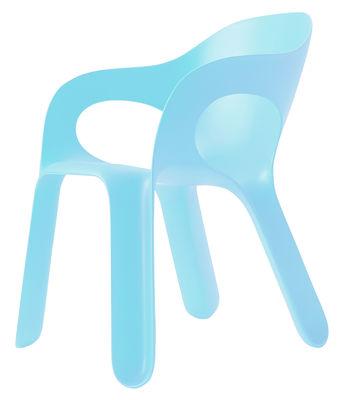 Mobilier - Chaises, fauteuils de salle à manger - Fauteuil empilable Easy chair / Plastique - Magis - Bleu ciel - Polypropylène