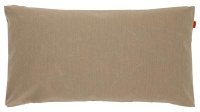 Decoration - Cushions & Poufs - Big Floor cushion - 90 x 50 cm by Trimm Copenhagen - Taupe - Polyethylene flakes, Sunbrella canvas