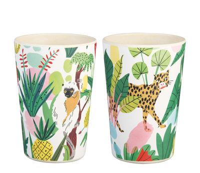 Arts de la table - Tasses et mugs - Gobelet Bodil / Set de 2 - Bambou - & klevering - Jungle tropicale - Fibre de bambou
