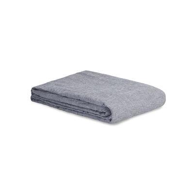 Housse de couette 140 x 200 cm / Lin lavé - Au Printemps Paris gris en tissu