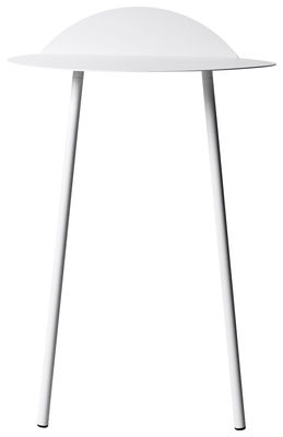 Möbel - Konsole - Yeh Wall Konsole / H 71 cm - Menu - Weiß - lackierter Stahl