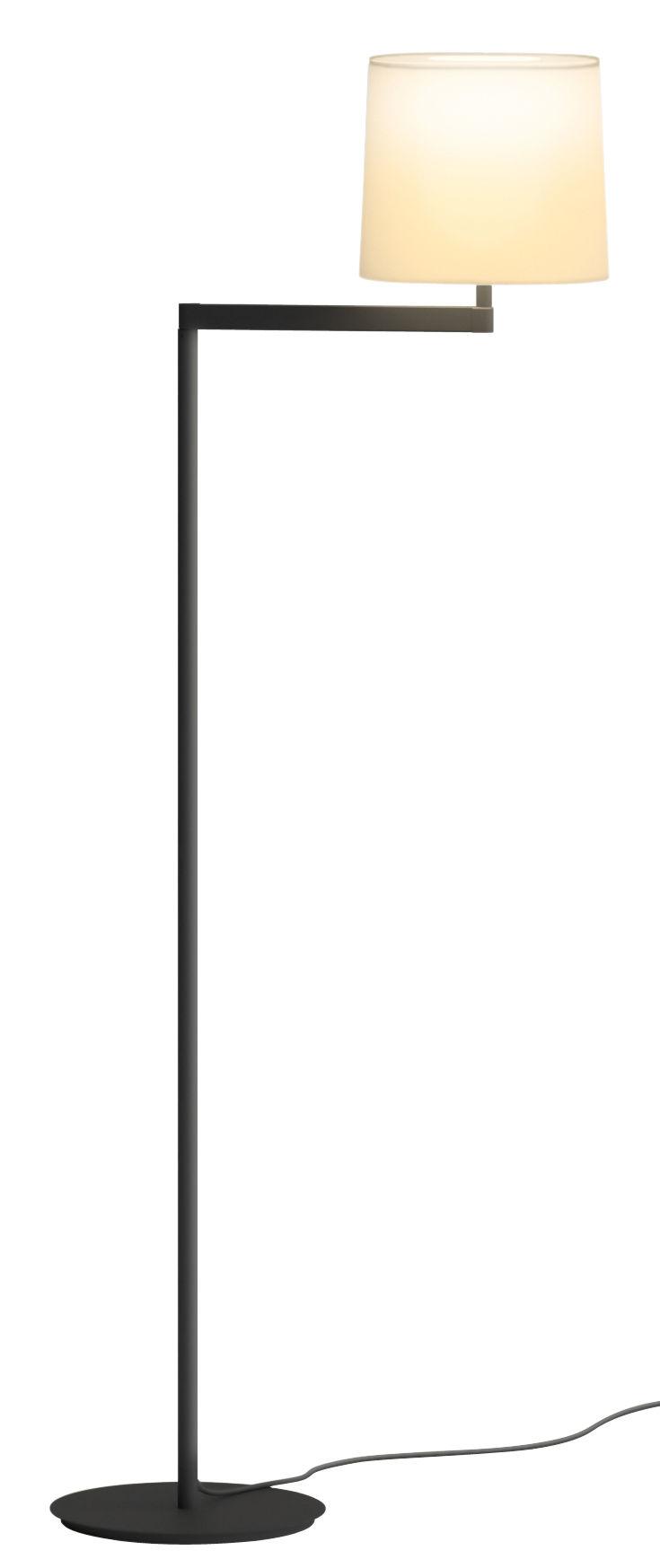 Luminaire - Lampadaires - Lampadaire Swing / H 128 cm - Vibia - Gris graphite - Acier, Fibre de verre, PVC